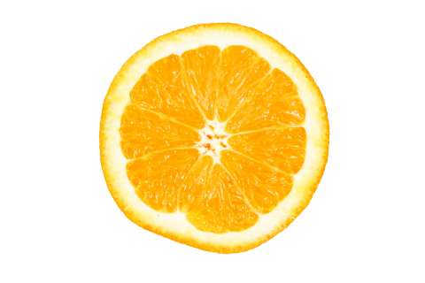 Orange Halved PNG