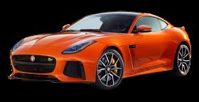 Orange Jaguar F Type SVR Coupe Car PNG