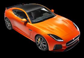 Orange Jaguar F Type SVR Coupe Top View Car PNG