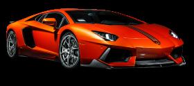 Orange Lamborghini Aventador Coupe Car PNG