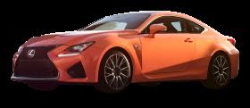 Orange Lexus RC F Car PNG
