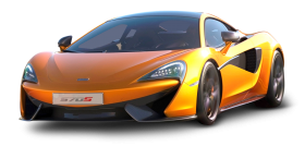 Orange Mclaren 570s Car PNG