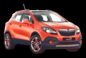 Orange Opel Mokka Car PNG