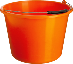 Orange PLastic Bucket PNG