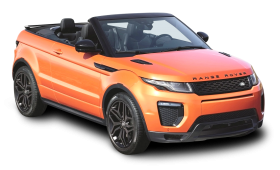 Orange Range Rover Evoque Convertible Car PNG