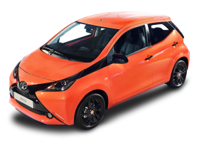 Orange Toyota Aygo Car PNG