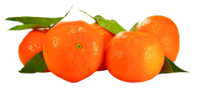 Orange With Leaf PNG