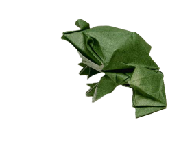 Origami Frog PNG