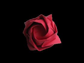 Origami Rose PNG