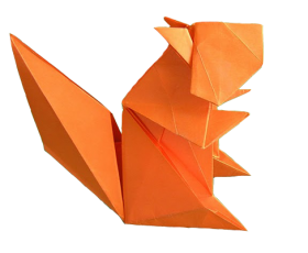 Origami Squirrel PNG