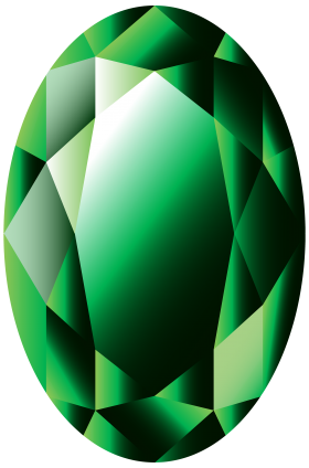 Oval Emerald PNG