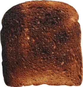 Overdone Toast PNG
