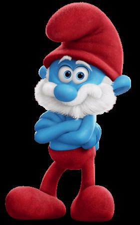 Papa Smurf PNG