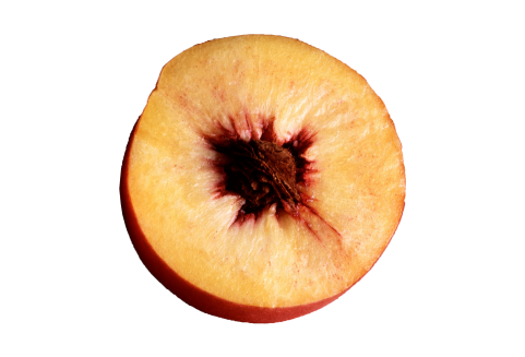 Peach Halved PNG