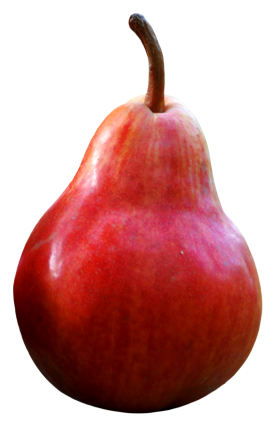 Pear Fruits Red PNG