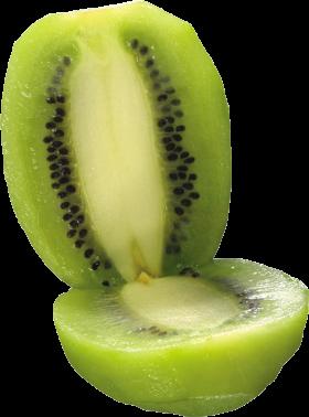 Peeled and split Kiwi PNG