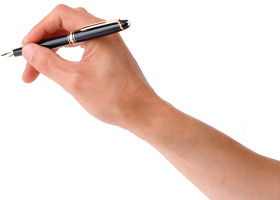 Pen On Hand PNG