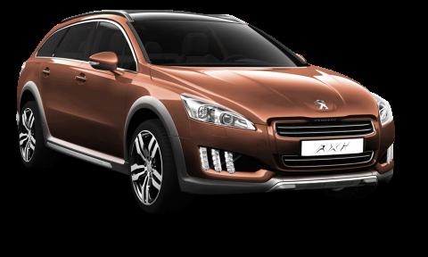 Peugeot 508 RXH Brown Car PNG