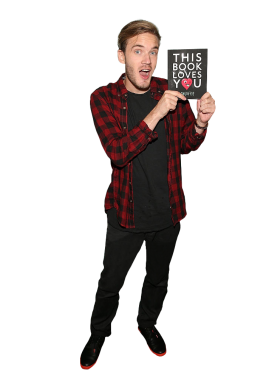 Pewdiepie holding book PNG