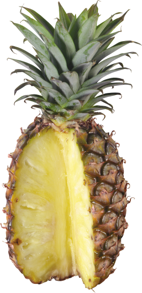 Pinapple Cut Open PNG