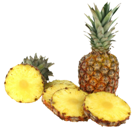 Pineapple with Slices PNG
