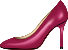 Pink Women Shoe PNG