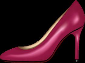 Pink Women Shoe PNG