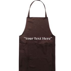 Plain Apron Brown PNG