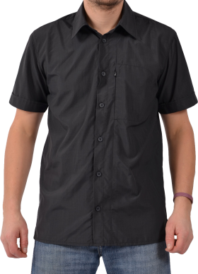 Plain Black Short Half Shirt PNG