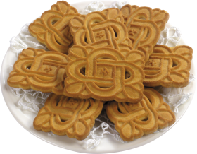 Plate of Speculoos PNG