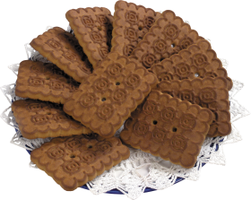 Plate of Cookies PNG