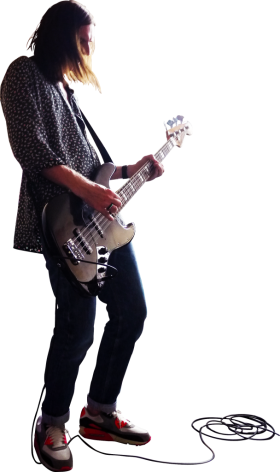 Playing Bass PNG