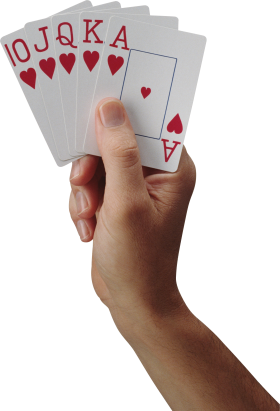 Playing Card On Hand PNG