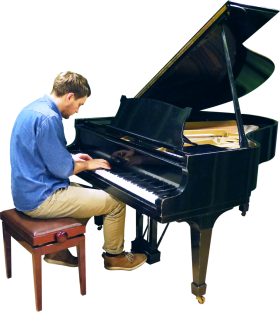 Playing Grand Piano PNG