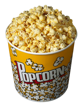 Popcorn In Bucket PNG