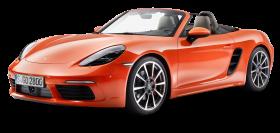 Porsche 718 Boxster S Orange Car PNG