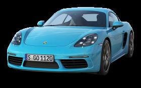 Porsche 718 Cayman S Blue Car PNG