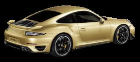 Porsche 911 Turbo Aerokit Gold Car PNG