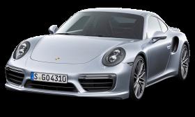 Porsche 911 Turbo Silver Car PNG