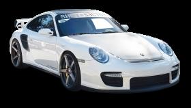 Porsche 997 GT2 White Car PNG