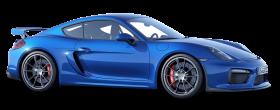Porsche Cayman GT4 Blue Car PNG