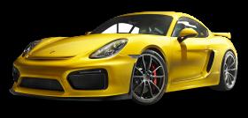 Porsche Cayman GT4 Yellow Car PNG