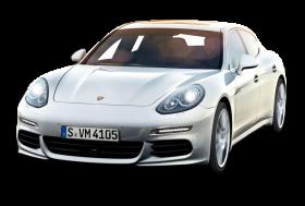 Porsche Panamera White Car PNG