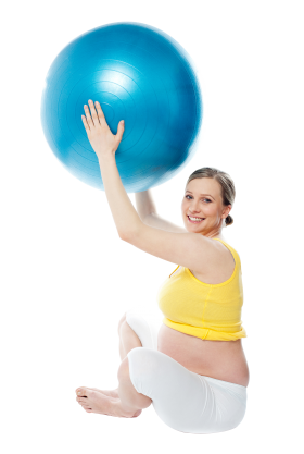 Pregnant Woman Exercise PNG