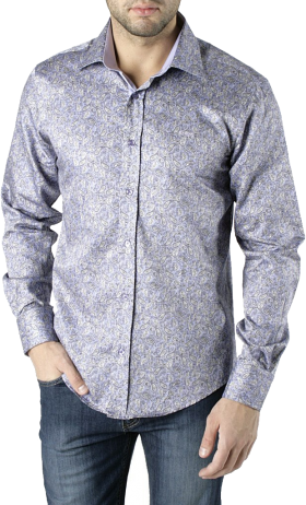 Printed Dress Shirt PNG