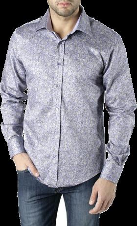 Printed Dress Shirt PNG