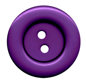 Purple Cloth Button With 2 Hole PNG