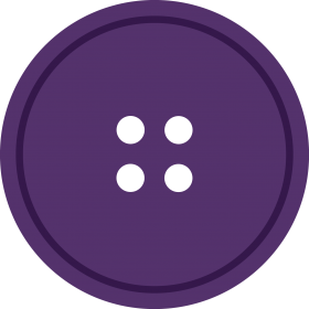 Purple Round Cloth Button With 4 Hole PNG
