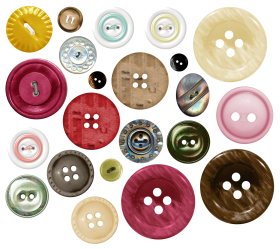 Raised Garden Bed Sewing Buttons PNG