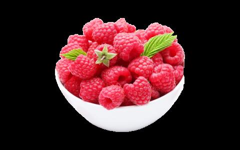 Raspberries In A Bowl PNG
